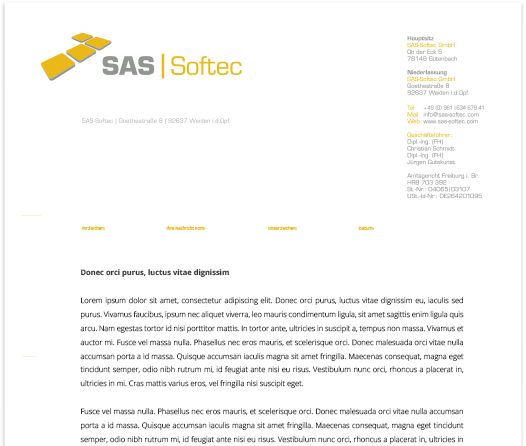 Corporate Design - SAS-Softec